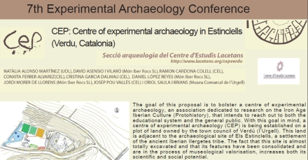 Click here to download a copy of CEP: Centre of Experimental Archaeology in Estinclells, by Alonso Martinez et al 2012.
