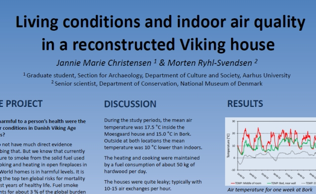 7th experimental archaeology conference poster abstract for Indoor air quality design