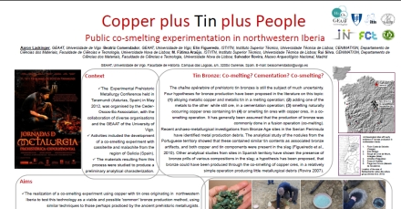 Click here to download a copy of Copper plus time plus people; public co-smelting experimentation in northwestern Iberia by Aaron Lackinger et al
